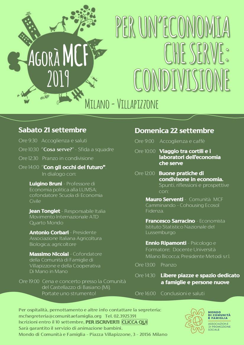 Per un economia che serve:condivisione @ Villa Pizzone